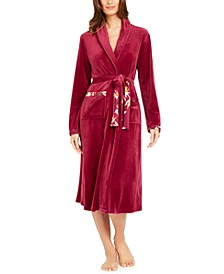 Women's Long Fleece Wrap Robe