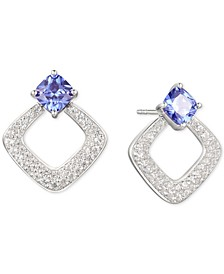 Tanzanite (1-1/10 ct. t.w.) & Diamond (5/8 ct. t.w.) Drop Earrings in 14k White Gold