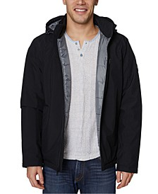 Men's Big & Tall Zip-Front Logo Hooded Jacket