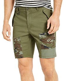 "Men's Pattern Blocked 10"" Shorts, Created for Macy's"