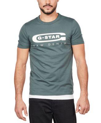 G-Star Graphic 80 Logo T-Shirt Royal Blue