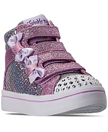 Toddler Girls Twinkle Toes Miss Holla-Glam Stay-Put Closure Light-Up High Top Casual Sneakers from Finish Line