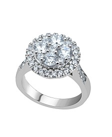Diamond (2 ct. t.w.)  Cluster Halo Ring in 14K White Gold