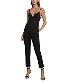 Open-Back Sweetheart Jumpsuit