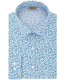 Men's All Day Flex Slim-Fit Performance Stretch Printed Dress Shirt
