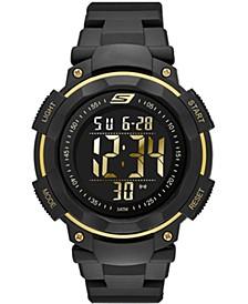 Men's Ruhland Digital Polyurethane Strap Watch 45mm
