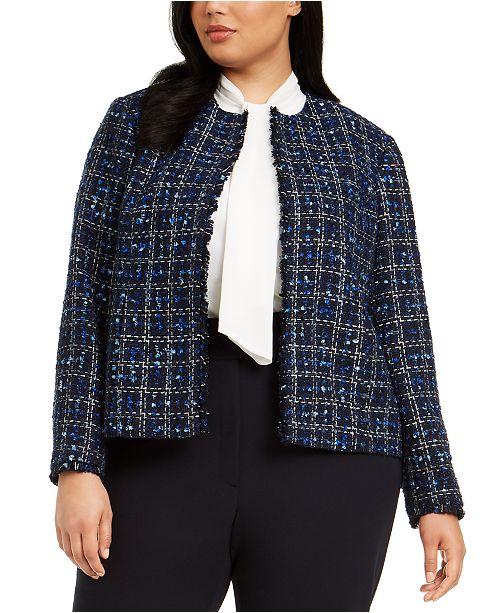 Calvin Klein Plus Size Tweed Jacket