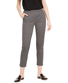 Chain-Print Pull-On Pants, Regular & Petite Sizes