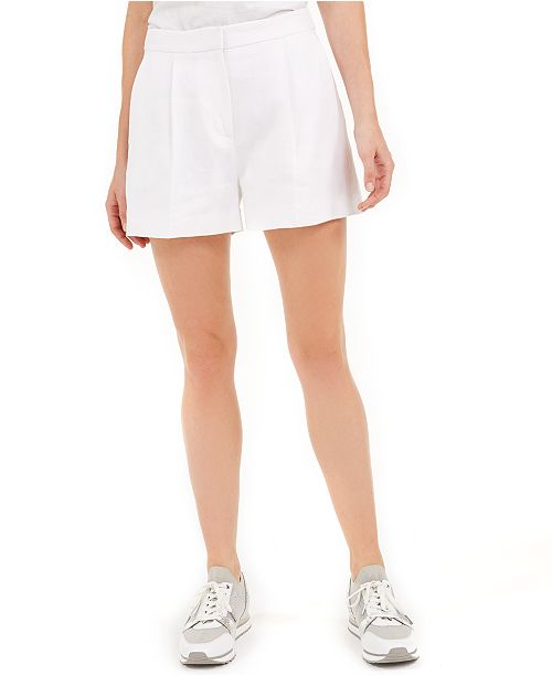 Michael Kors Linen Pleated Shorts