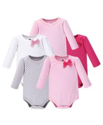 Hudson baby Unisex-Baby Baby Long Sleeve Bodysuit 5 Pack