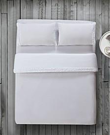 Bella Shabby Chic Easy Care Ruffled Microfiber Bed Sheet Set