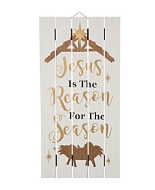 Wooden Nativity Wall Decor