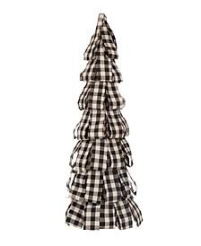 Plaid Fabric Table Tree