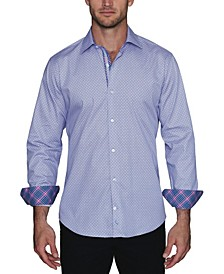 Men's Circle Print Button Down Shirt