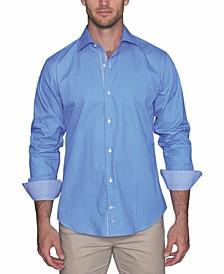 Men's Floral Dot Button Down Shirt