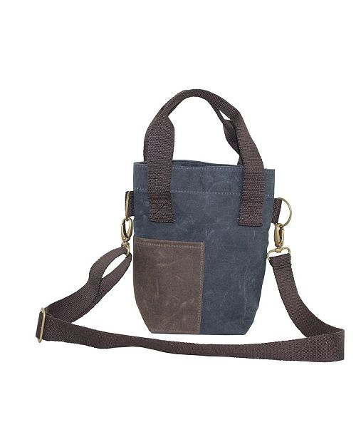 CB Station Waxed Canvas Double Wine Bottle Tote
