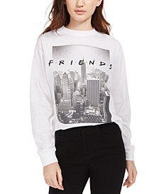 Jerry Leigh Juniors' Friends Logo Long-Sleeved Graphic T-Shirt