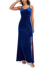 Morgan & Company Juniors' Velvet Glitter Gown