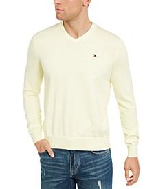 Men's Signature Regular-Fit Solid V-Neck Sweater