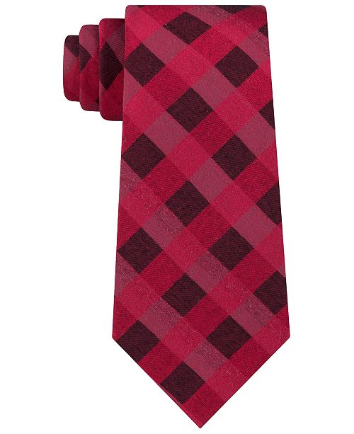 Calvin Klein Men's Slim Bold Check Tie