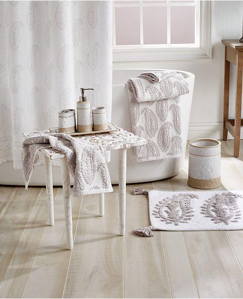 Peri Textured Paisley Bath Collection