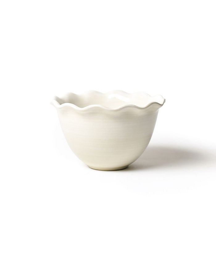 "Coton Colors - Signature White 9"" Ruffle Bowl"