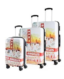 Prints 3-Pc. Hardside Luggage Set