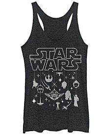 Star Wars Holiday Silhouette Tri-Blend Racer Back Tank