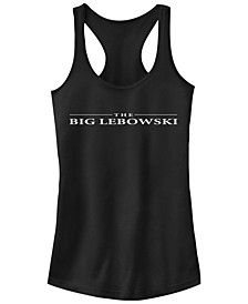 Big Lebowski Title Simple Text Ideal Racer Back Tank