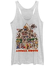Animal House Wild Rager Tri-Blend Racer Back Tank