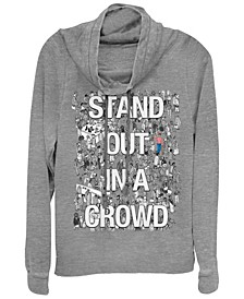 Where's Waldo Stand Out In A Crowd Poster Cowl Neck Sweater