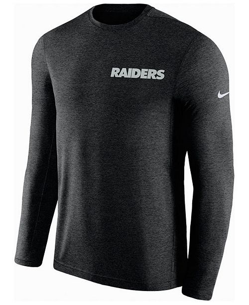 Nike Men's Oakland Raiders Coaches Long Sleeve Top