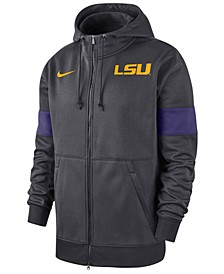 Men's LSU Tigers Therma Sideline Hooded Full-Zip Jacket