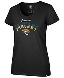 Women's Jacksonville Jaguars Sparkle Dip Club T-Shirt