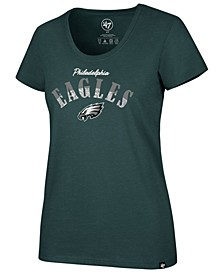 Women's Philadelphia Eagles Sparkle Dip Club T-Shirt
