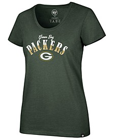 Women's Green Bay Packers Sparkle Dip Club T-Shirt
