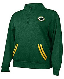 Women's Plus Size Green Bay Packers Fleece Half-Zip Pullover