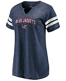 Women's Columbus Blue Jackets Net V-Notch T-Shirt