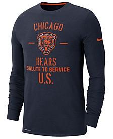 Men's Chicago Bears Salute To Service Dri-FIT Cotton Long Sleeve T-Shirt