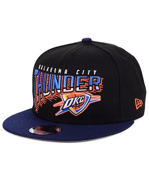 New Era Big Boys Oklahoma City Thunder Whammy 2.0 9FIFTY Snapback Cap