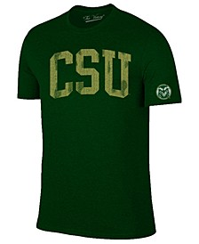 Men's Colorado State Rams Oversized Arch Dual Blend T-Shirt