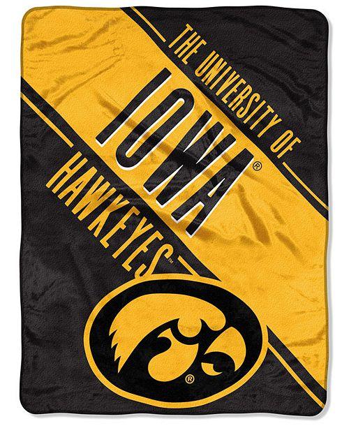 Lids Northwest Company Iowa Hawkeyes Micro Raschel Walk Off Throw Blanket