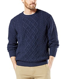 Dockers Men's Alpha Cable Sweatshirt