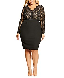Trendy Plus Size Hourglass Beauty Dress