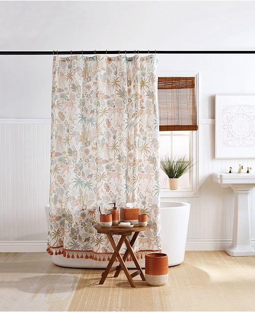 """Destinations Wild Garden 72"""" x 84"""" Extra Long Shower Curtain"""