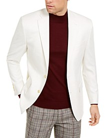 Men's Classic-Fit UltraFlex Stretch Cream Solid Sport Coat