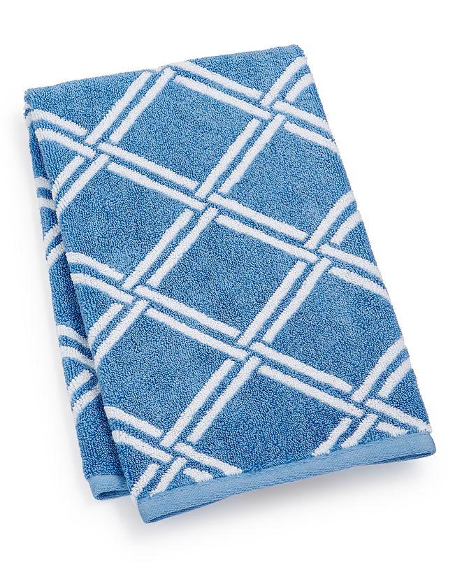 "Charter Club Elite Cotton Lattice 16"" x 30"" Hand Towel, Created for Macy's"
