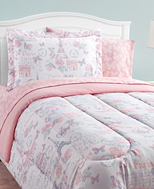 Parisian Petals 8-Piece Twin Bed in a Bag Set