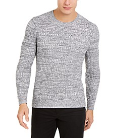 Men's Basket Weave Crewneck Sweater, Created For Macy's
