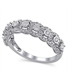 Certified Diamond (1/2 ct. t.w.) Anniversary Ring in 14K White Gold